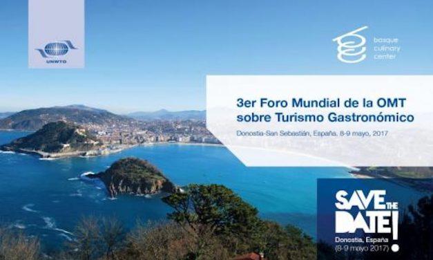 SAN SEBASTIÁN ACOGE EN MAYO EL III FORO MUNDIAL DE TURISMO GASTRONÓMICO