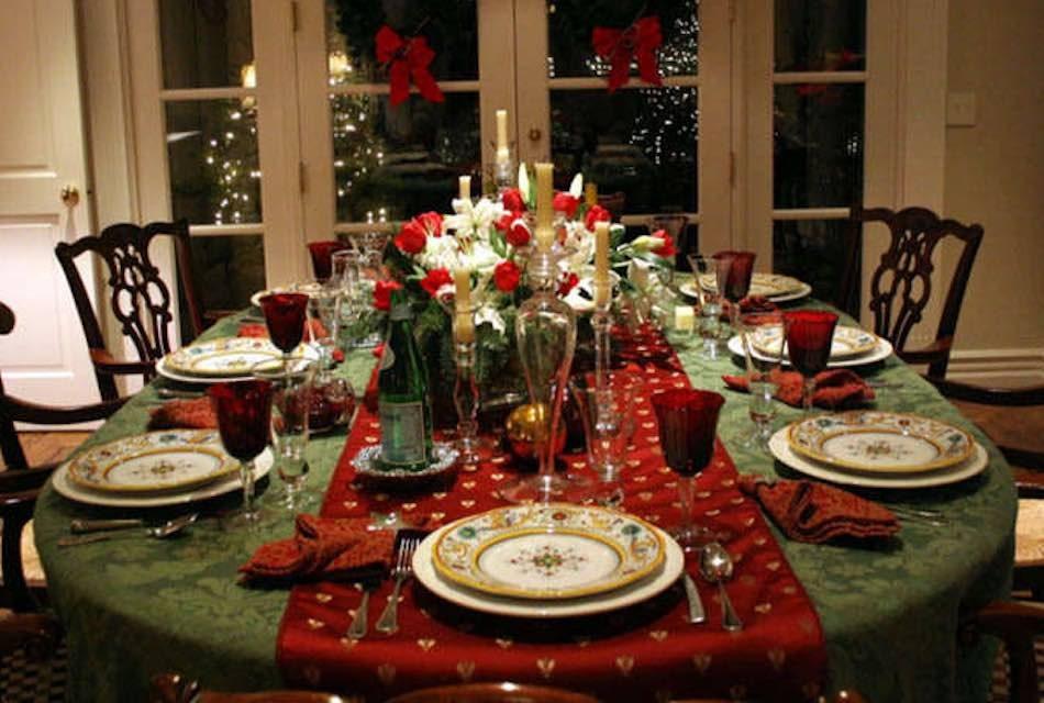 El protocolo en la mesa de navidad saboreando canarias - Como poner la mesa en navidad ...
