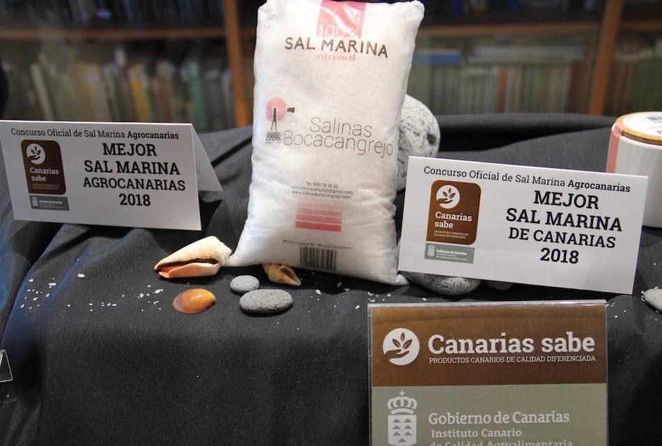 LA SAL MARINA ARTESANAL DE SALINAS DE BOCACANGREJO (GRAN CANARIA), MEJOR PRODUCCIÓN DEL I CONCURSO AGROCANARIAS DE SAL 2018